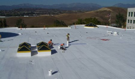 The SureCoat Roof System over Hypalon in Diamond Bar, California