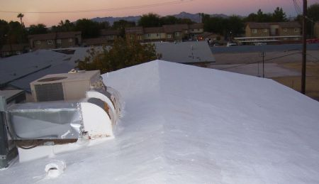 Captivating AFTER THE SURECOAT ROOF SYSTEM WAS USED TO REPAIR THIS SEVERELY DAMAGED FOAM  ROOF