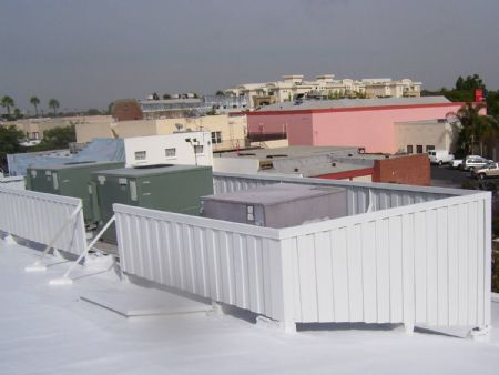 AFTER SURECOAT APPLICATION WAS USED TO RESTORE AND REPAIR THE METAL  EQUIPMENT SCREEN. THE ENTIRE ROOF WAS WATERPROOFED WITH SAME  SINGLE COMPONENT MATERIAL ...