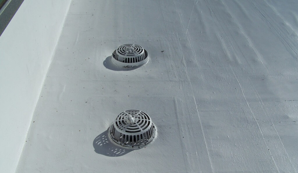 hypalon roof drain repairs