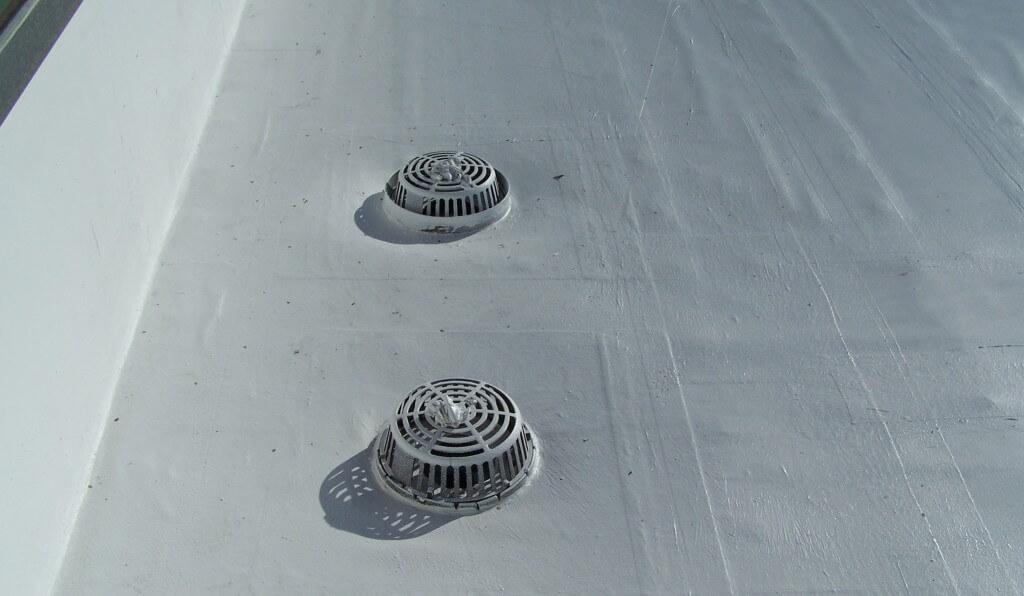 hypalon roof drain repairs