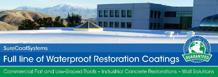 Waterproof restoration coatings