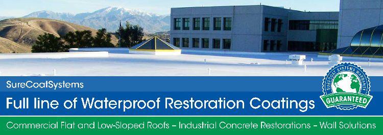 Waterproof restoration coatings
