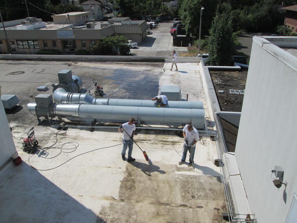PVC single ply roof