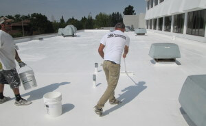 elastomeric roof coating application