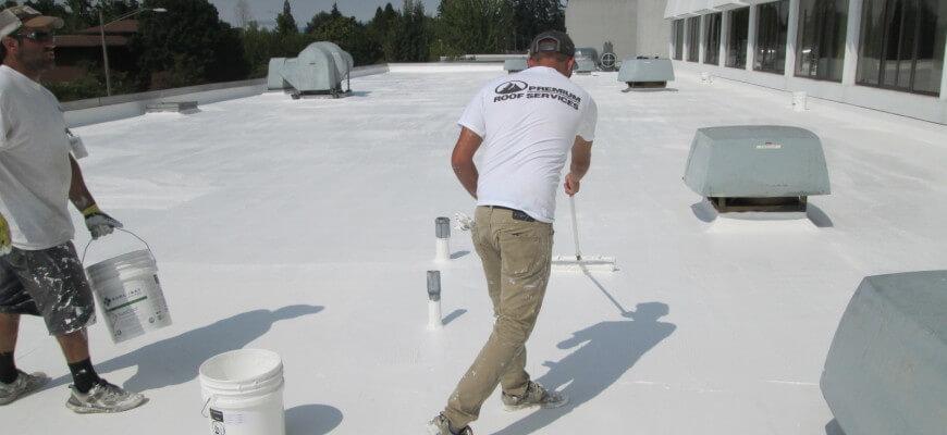 elastomeric roof coating application