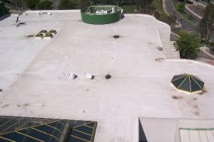 flat hypalon single ply roofs