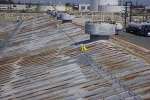 rusty metal roofs