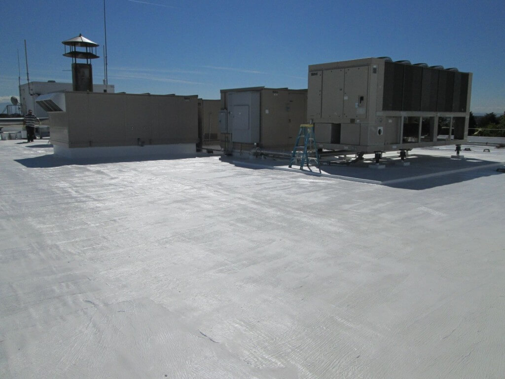 single ply roof install