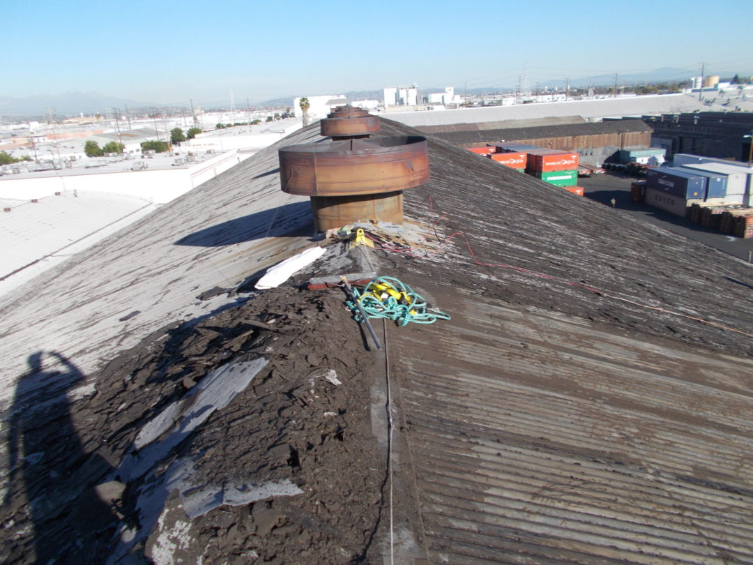 metal roof with cap sheet